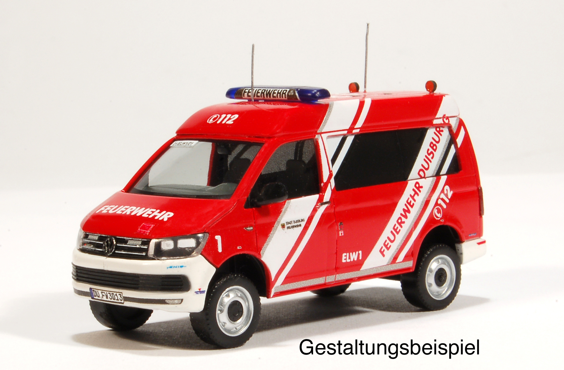 mbsk modellbau studio kaiserberg vw t 6 elw 1 feuerwehr duisburg umbausatz mbsk01b. Black Bedroom Furniture Sets. Home Design Ideas