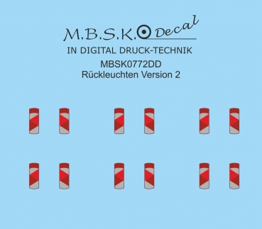 Rückleuchten Version 2 MBSK772DD
