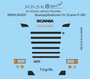 Basisapplikationen für Scania P-360 Premium Digitaldruck Decal MBSK364DD